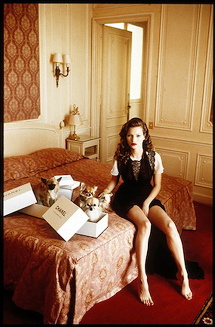 Arthur Elgort, 'Kate Moss at the Hotel Raphael, VOGUE Italia, Paris', 1993, Photography, Archival Pigment Print, Staley-Wise Gallery