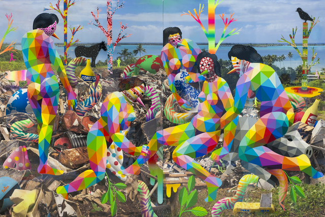 Okuda San Miguel, 'Royal Family of the Plastic Island', 2018, Mirus Gallery
