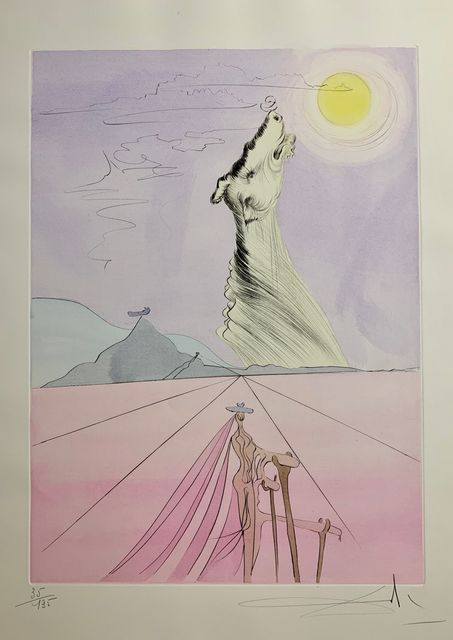 Salvador Dalí, 'Benjamin', 1973, Drawing, Collage or other Work on Paper, Original Etching + Color, Dali Paris