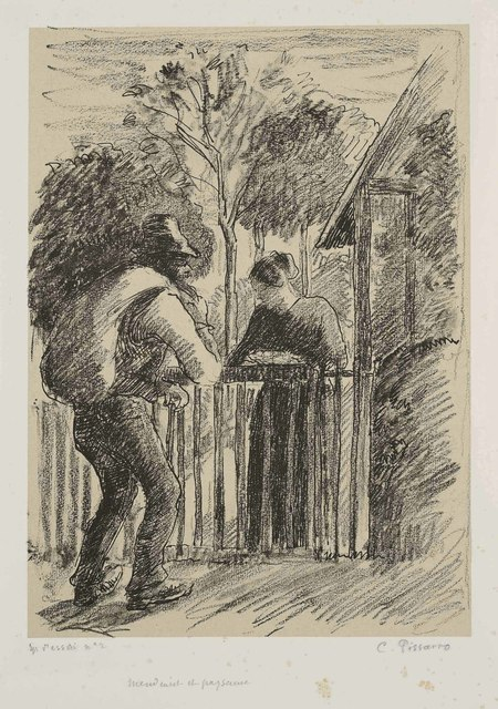 Camille Pissarro, 'Mendiant et paysanne', circa 1897, Christie's