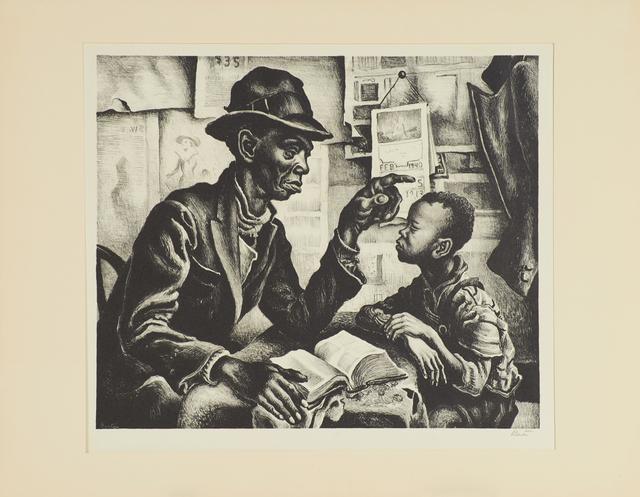 Thomas Hart Benton, 'Instruction', 1940, Print, Lithograph on paper, Rago/Wright