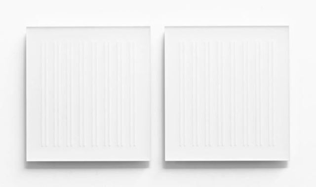 , 'Acrylic piece 2017-1 (diptych),' 2017, inde/jacobs