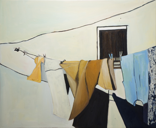 Beverly McIver, 'Matera Clothesline, Silence', 2018, Painting, Oil on canvas, C. Grimaldis Gallery