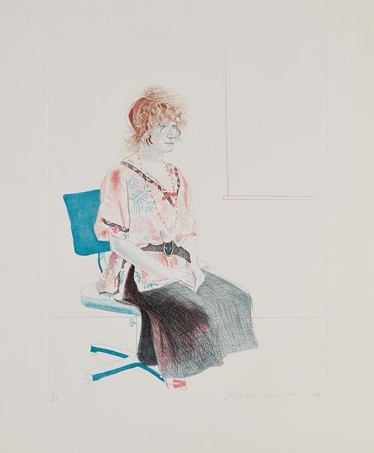 David Hockney, 'Celia Seated on an Office Chair', 1974, Phillips