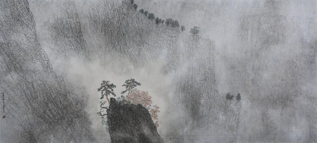 Guan Zhi, 'Clouds Barring Cliffy Mountains', 2019, Michael Goedhuis