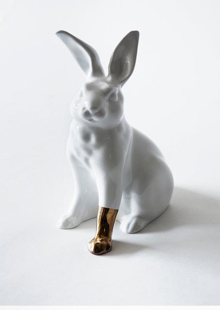 , 'Rabbit with foot (gold),' 2012, Winston Wächter Fine Art