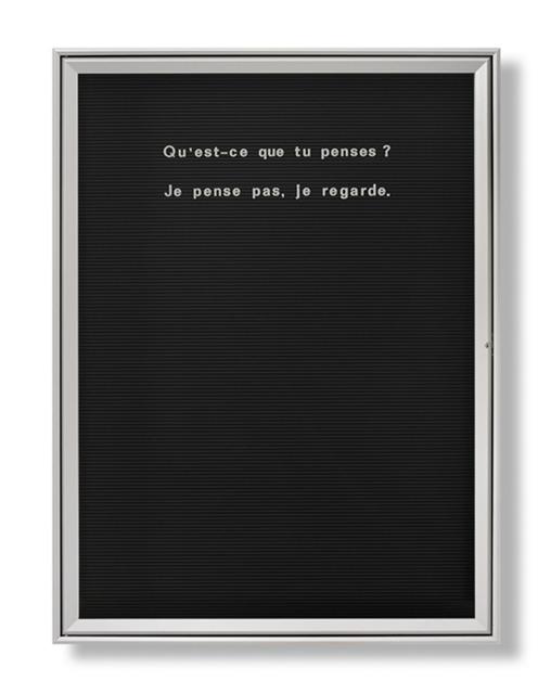 , 'Untitled (Qu'est que tu penses…),' 2006, Vistamare