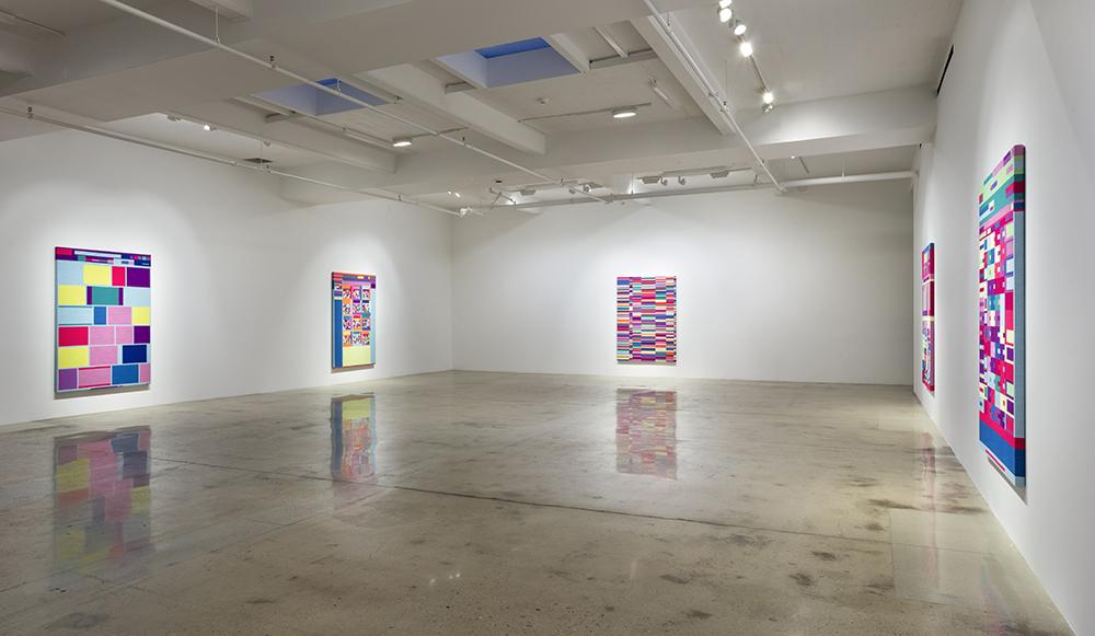 Rafaël Rozendaal. Portraits, Installation view, Steve Turner, January-February 2018
