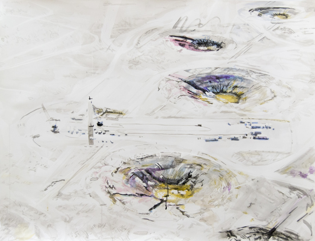 Eric LoPresti, 'Nuclear Test Shot Amongst Polychrome Craters', 2015, Elizabeth Houston Gallery