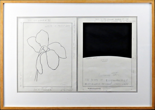 , 'Mixed Media Collage and Flower Drawing - (Two Works), Exhibited at the Johnson Museum of Art, Cornell University, with stunning inscription to the publisher of Hudson Hills Press,' 1987, Alpha 137 Gallery