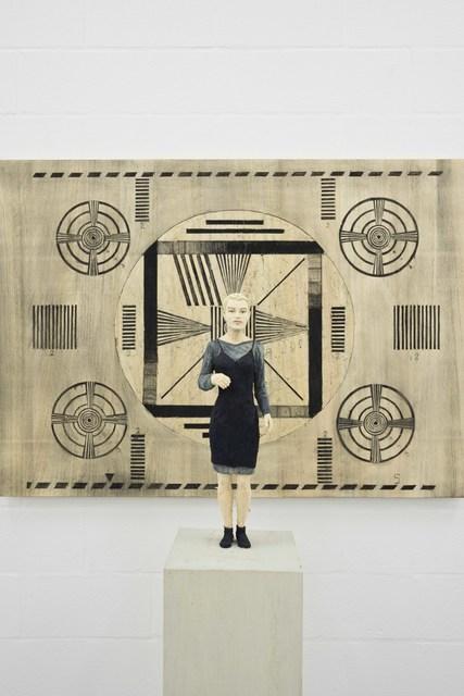 , 'Frau mit Testbild,' 2015, Deweer Gallery