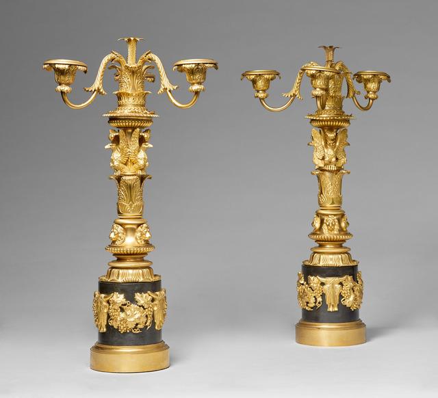 , 'Pair of candelabra,' English circa 1810-11, H. Blairman & Sons Ltd