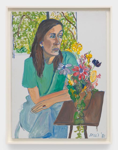 , 'Nancy with Flowers,' 1981, David Zwirner