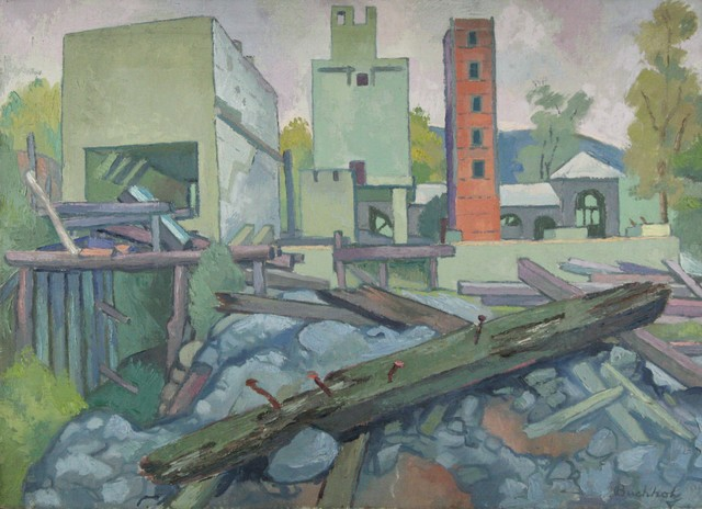 Frederick Buchholz, 'Industrial Landscape with Red Tower', ca. 1935, VHD Gallery