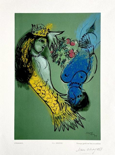 Marc Chagall, ' La Sirene', 1950, Print, Lithograph, Van der Vorst- Art