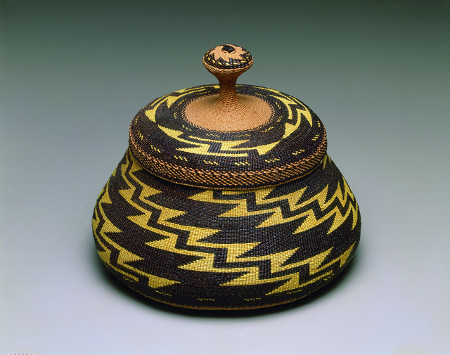 ", '""Fancy"" lidded basket,' ca. 1917, American Federation of Arts"