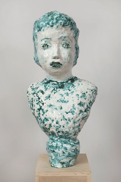 , 'Majolica and Copper Portrait Bust with Twinkling Eyes,' 2014, Asya Geisberg Gallery