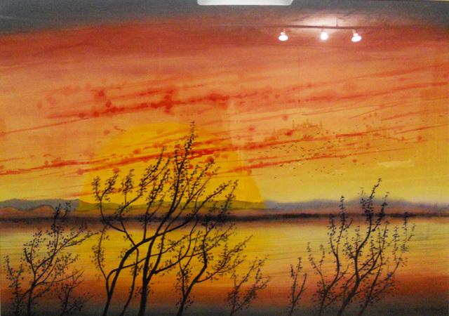 Don Ahn, 'Sunrise', 1994, Painting, Acrylic on canvas, Walter Wickiser Gallery