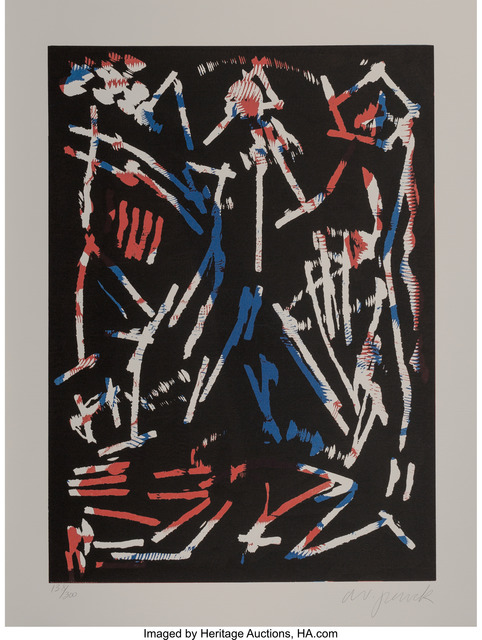 A.R. Penck, 'Mul, Bul Dang & Sentimentality, from Official Arts Portfolio of the XXIVth Olympiad, Seoul, Korea', 1988, Heritage Auctions