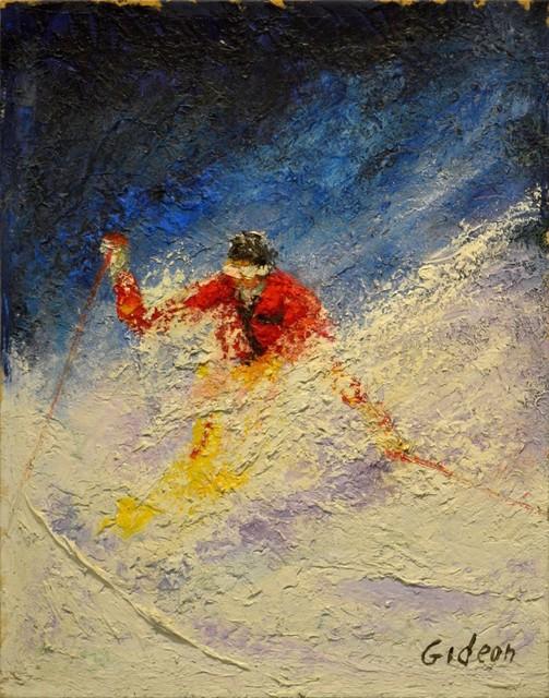 , 'Skier in Blue,' , Venvi Art Gallery