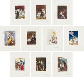 Les Caprices de Goya de Dali (Dali's 'Caprichos' by Goya): 10 plates