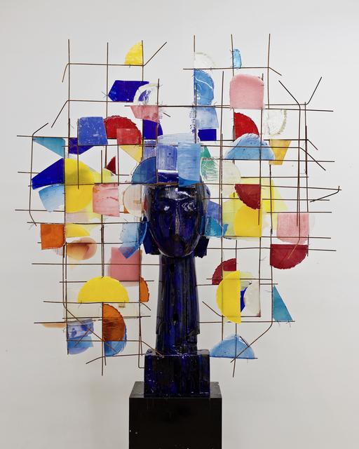 , 'Cabeza azul Madera y Resin,' 2018, Opera Gallery