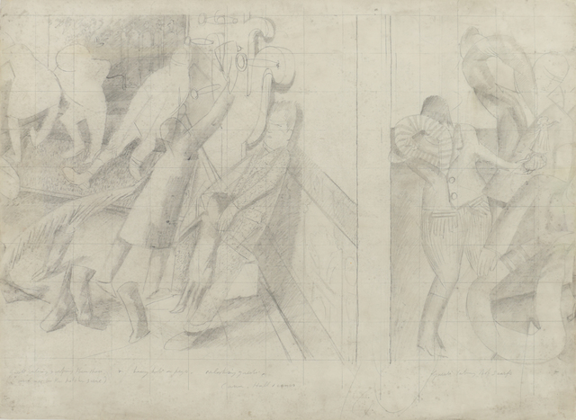 Stanley Spencer, 'Drawing for the Marriage at Cana', 1933, Bernard Jacobson Gallery
