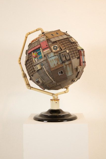 , 'Territorial Globe,' 2013, Jonathan LeVine Projects
