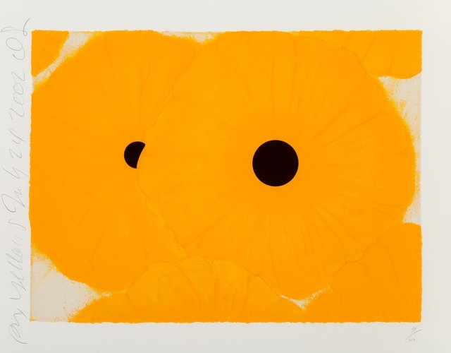 Donald Sultan, 'Six Yellows', 2004, Print, Screenprint in colors with black velvet and flocking on Somerset paper, Heritage Auctions
