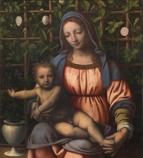 Bernardino Luini, 'Madonna and Child (Madonna del Roseto)', 1500-1510, Pinacoteca di Brera