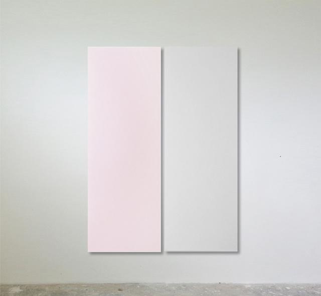 Sonia Costantini, 'Dittico. Rosa perla / grigio perla', 2017, FerrarinArte/Kromya