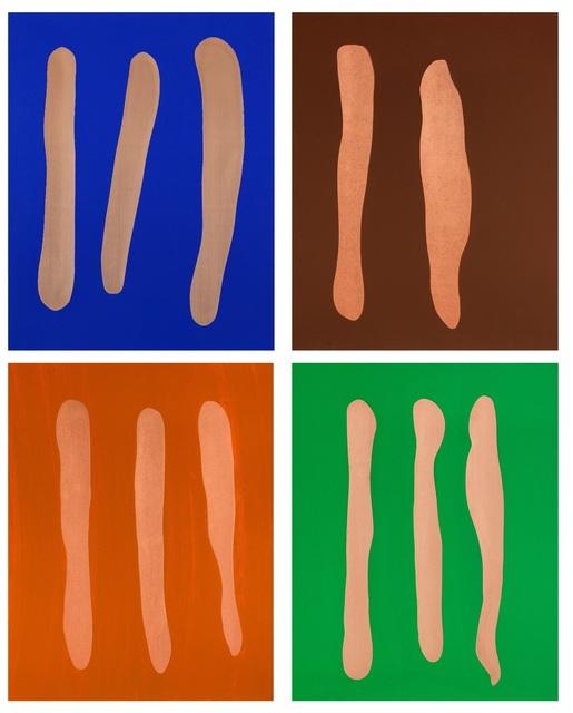 , 'Mr. Blue, Mr. Brown, Mr. Orange, Mr. Green,' 2002, Deweer Gallery
