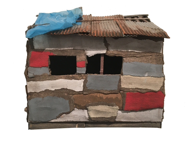 , 'Red,White, and Blue Shack,' 2020, BoxHeart