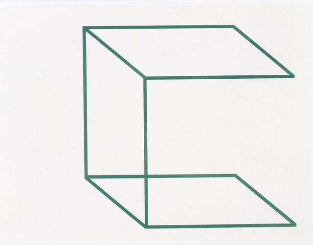 """, '""""Drawing/Neon for the U. of Mass."""" (JA-17),' 1978, Bookstein Projects"""