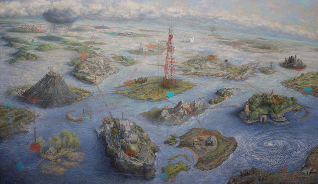 Michèle Fenniak, 'Islands', 2013, Painting, Oil on panel, Forum Gallery
