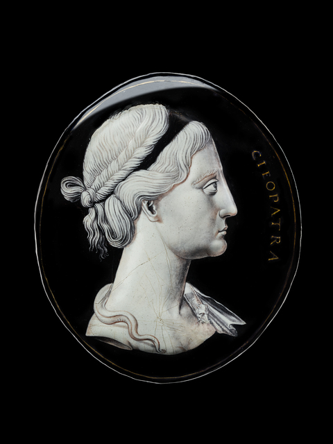, 'An enamelled plaque depicting Cleopatra in profile,' Mid, 16th century, probably 1540s, Blumka Gallery