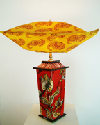 , 'Red Brocade Lamp,' 2014, Zenith Gallery