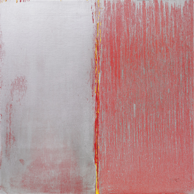Pat Steir, 'Red and Silver', 2019, Locks Gallery