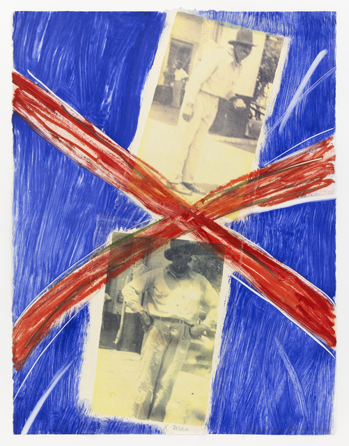 Emma Amos, 'X Man', 1992, Print, Monoprint/photo, Mary Ryan Gallery, Inc