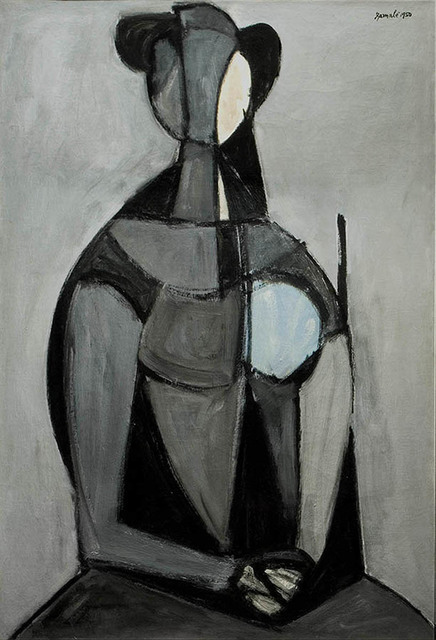 , 'Seated Figure, Grey Background (Figura seduta, fondo grigio),' 1950, R. S. Johnson Fine Art
