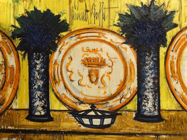 , 'Vases bleus et assiettes sur fond jaune,' 1963, Opera Gallery