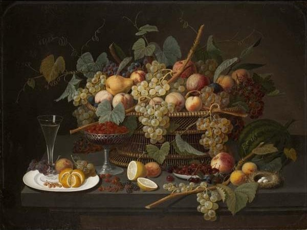 , 'Still Life with Fruit,' 1850-1860, Davis Museum