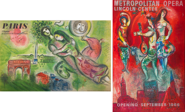 Marc Chagall, 'Two Lithographic Posters in Colors: Romeo & Juliet, Carmen', Print, Lithograph posters, Rago/Wright