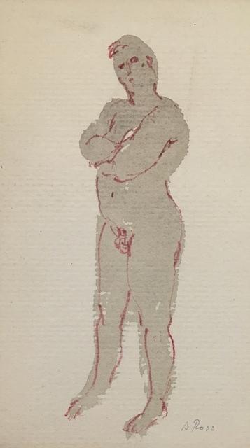 , 'Portly Male Nude,' Mid 20th c., Bakker Gallery