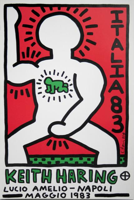 Keith Haring, 'Italia 1983 (Lucio Amelio, Napoli Maggio 1983) Exhibition Announcement', 1983, Woodward Gallery