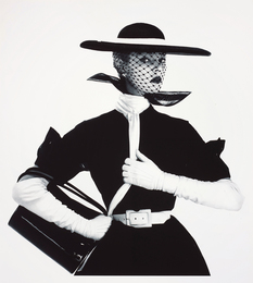 Irving Penn, 'Black and White Fashion (with Handbag) (Jean Patchett), New York, 1950,' 1950-printed 1984, Phillips: 20th Century & Contemporary Art & Design Evening Sale