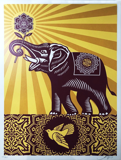 Shepard Fairey (OBEY), 'Holiday Peace Elephant', 2015, EHC Fine Art Gallery Auction