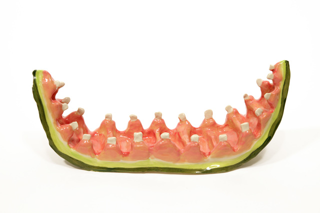 , 'Watermelon Rind with Teeth 2,' 2016, Asya Geisberg Gallery