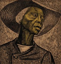 """Sharecropper, alternatively titled """"Negro Woman,"""" and """"Cosechadora de algodón"""""""