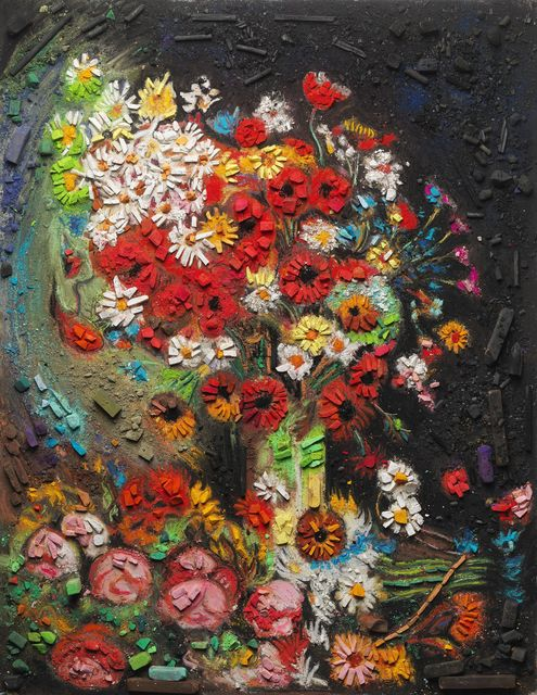 , 'Metachrome (Flowers, after Vincent van Gogh),' 2016, Matthew Liu Fine Arts